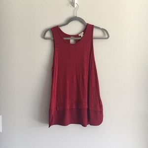 J. Crew Red tank size Small